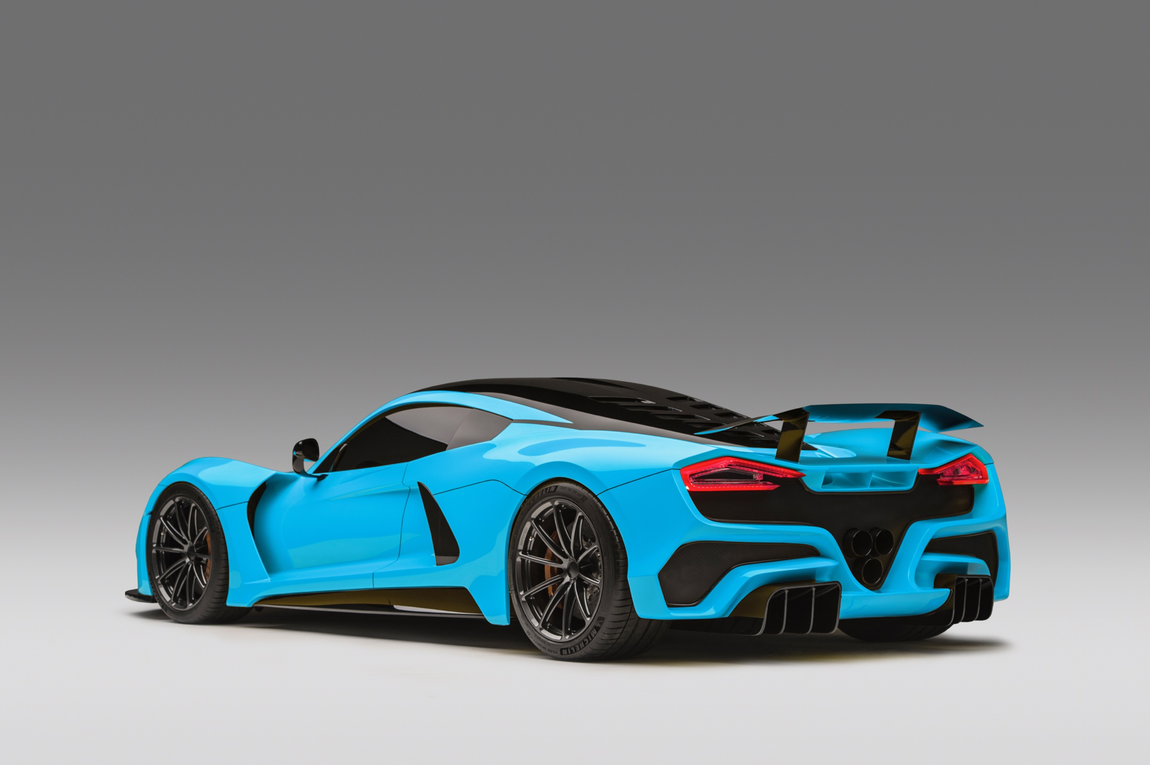 Hennessey Venom F5 Blue Rear