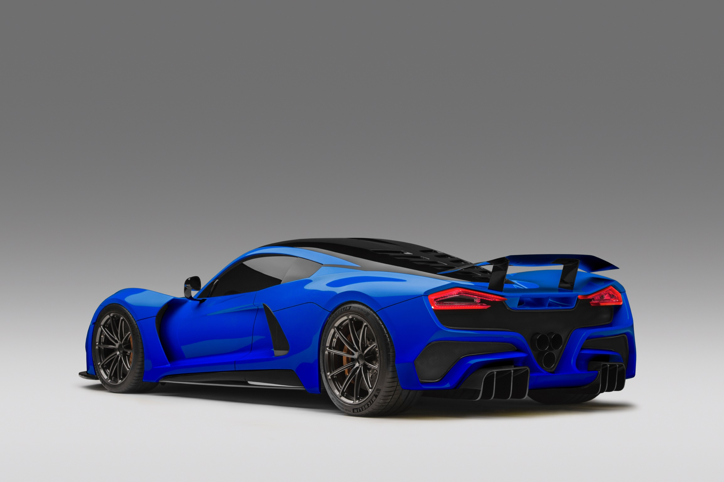 Hennessey Venom F5 Blue Dark Rear