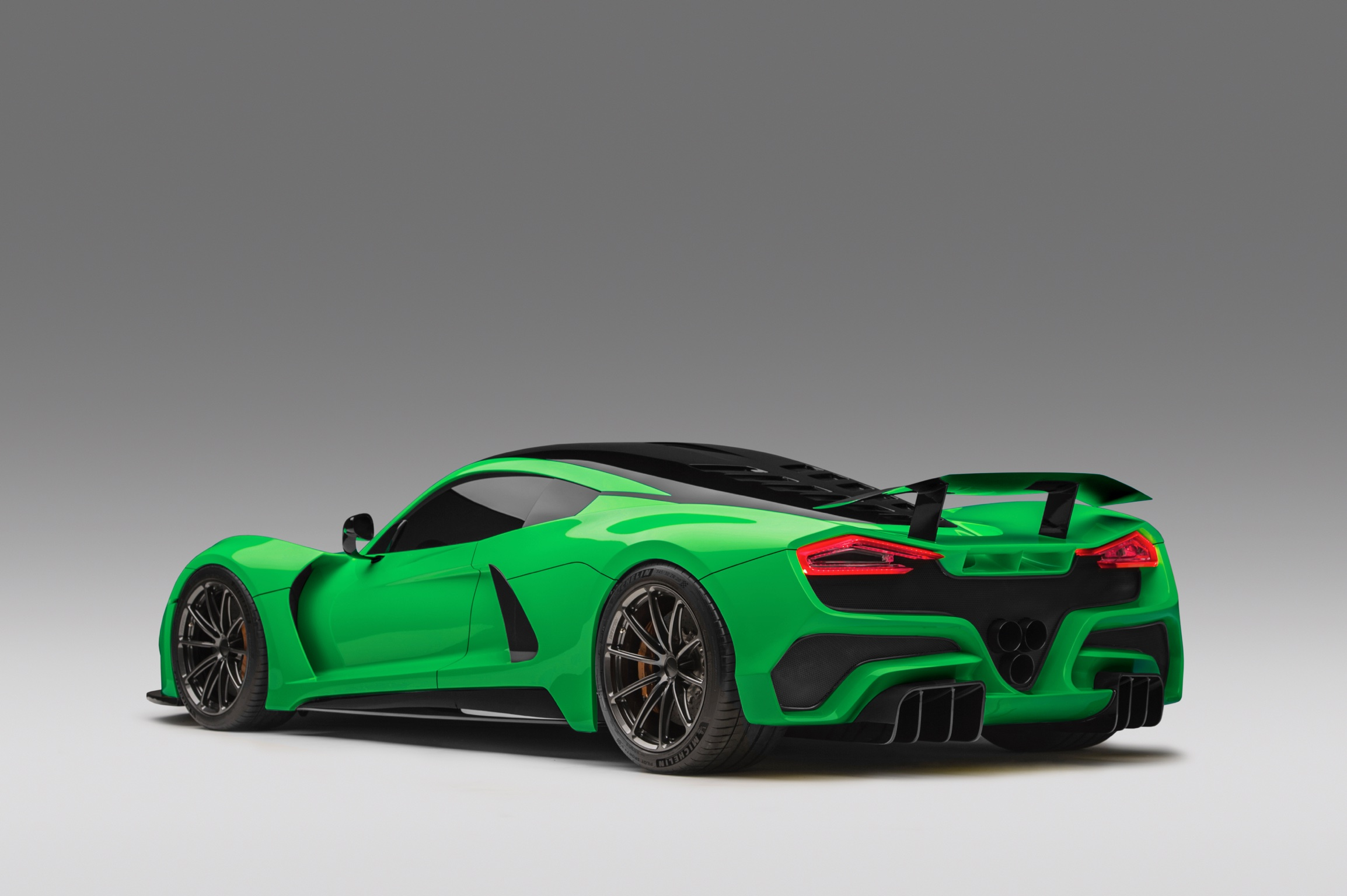 Hennessey Venom F5 Green Dark Verde Rear