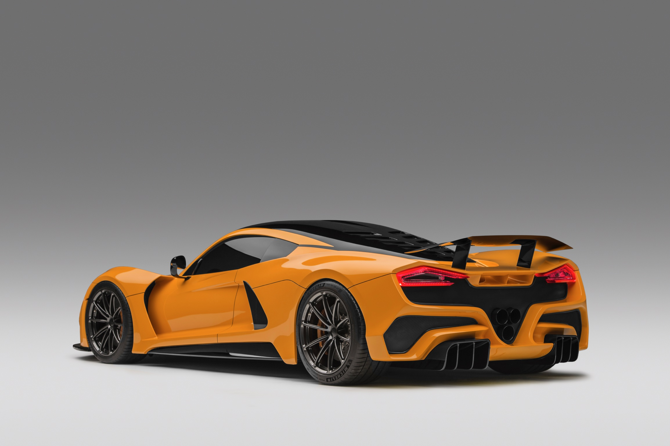 Hennessey Venom F5 Orange Rear