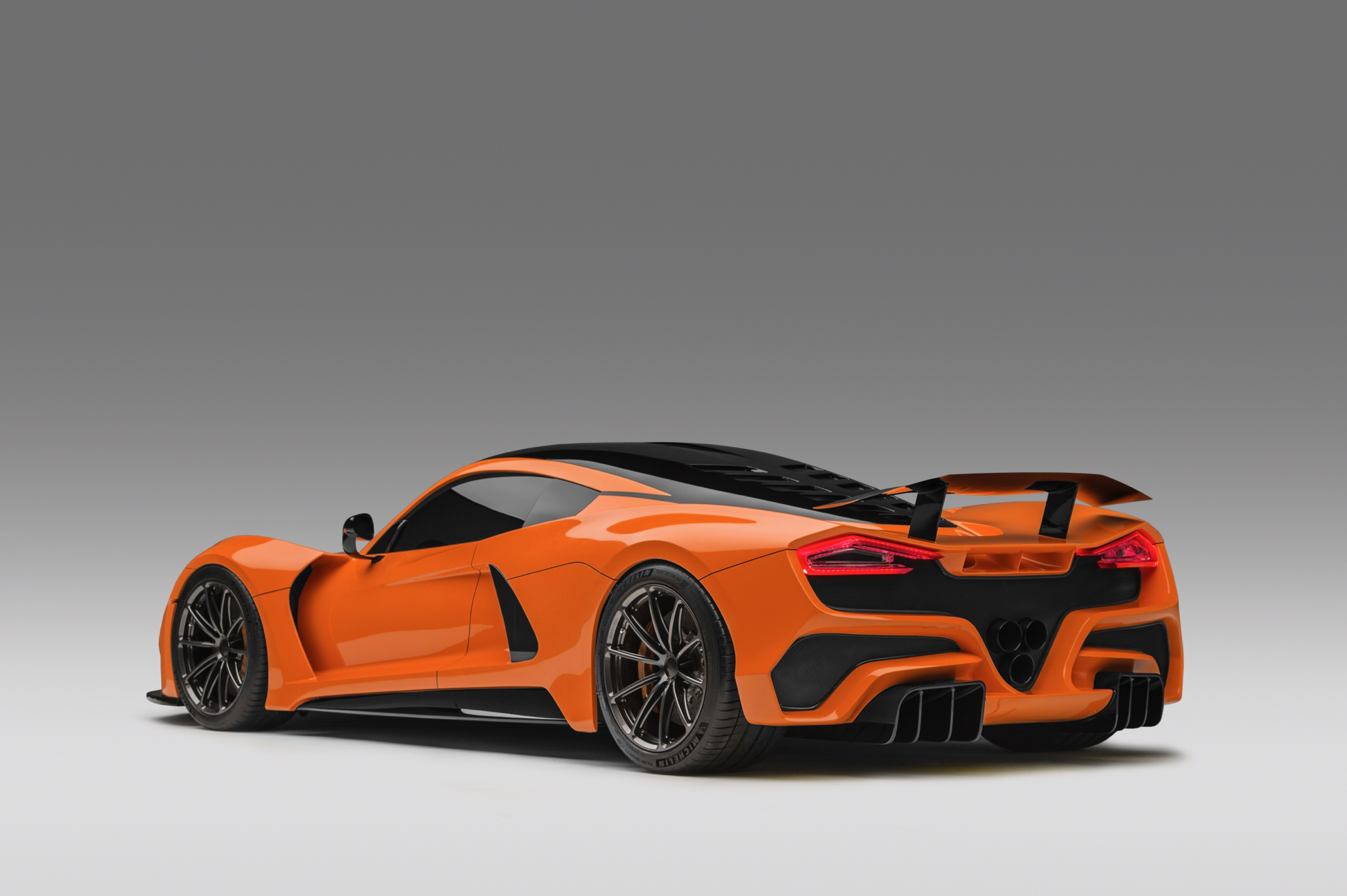 Hennessey Venom F5 in Deep Orange Metallic Rear