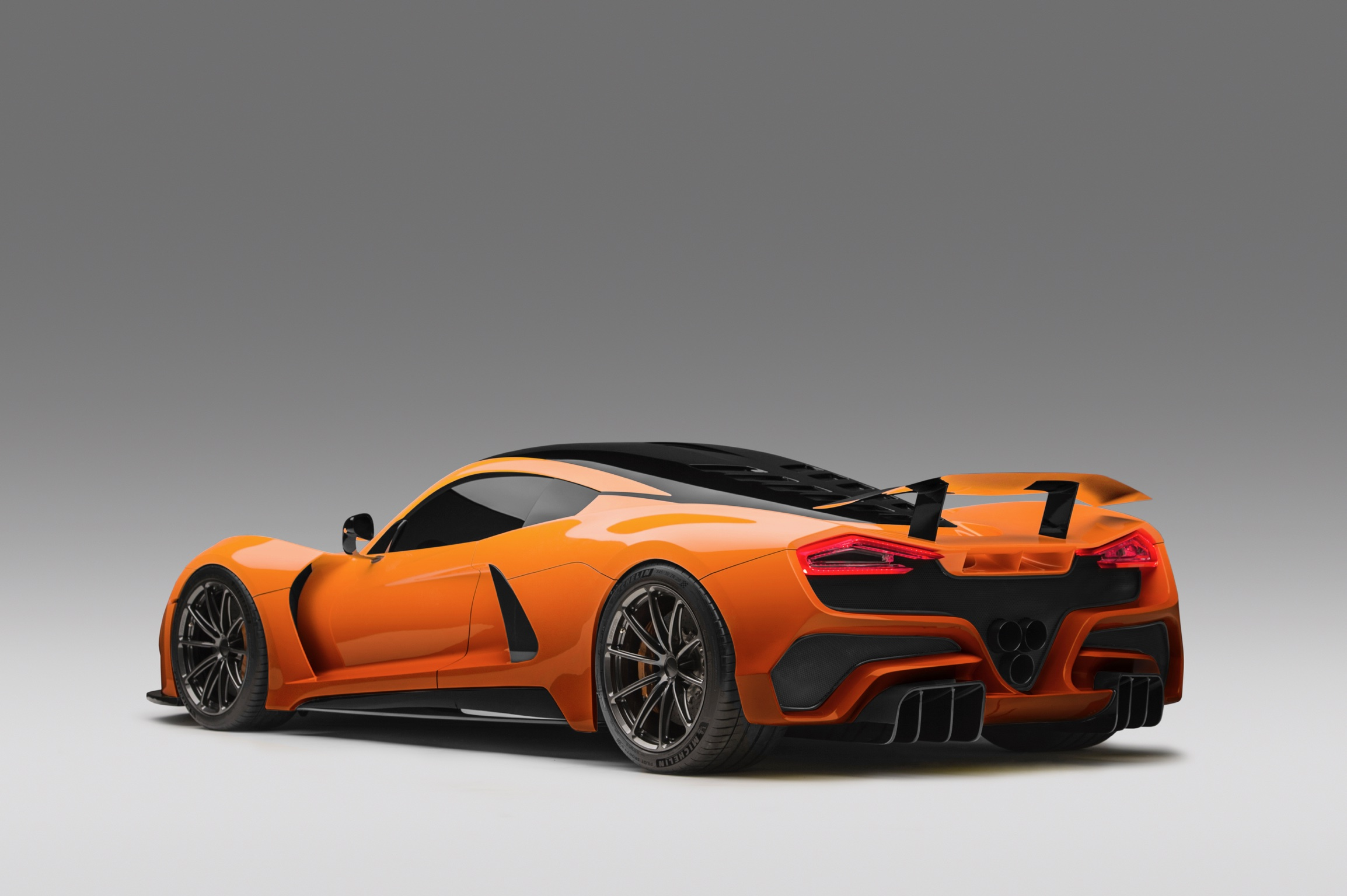 Hennessey Venom F5 in Orange Metallic Rear