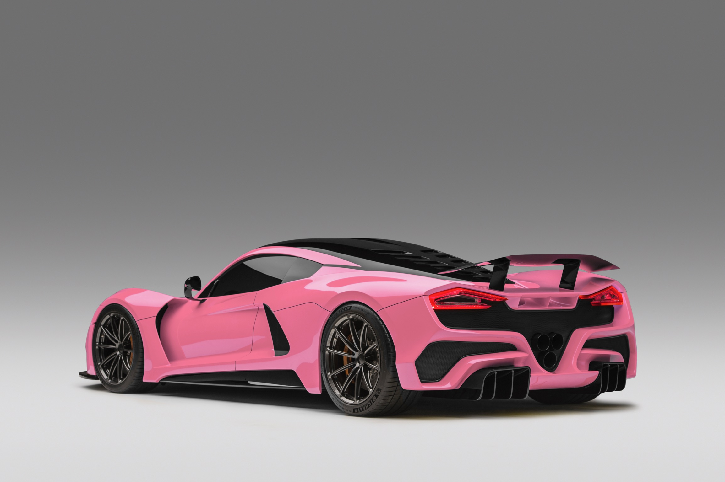 Hennessey Venom F5 in Pink Rear