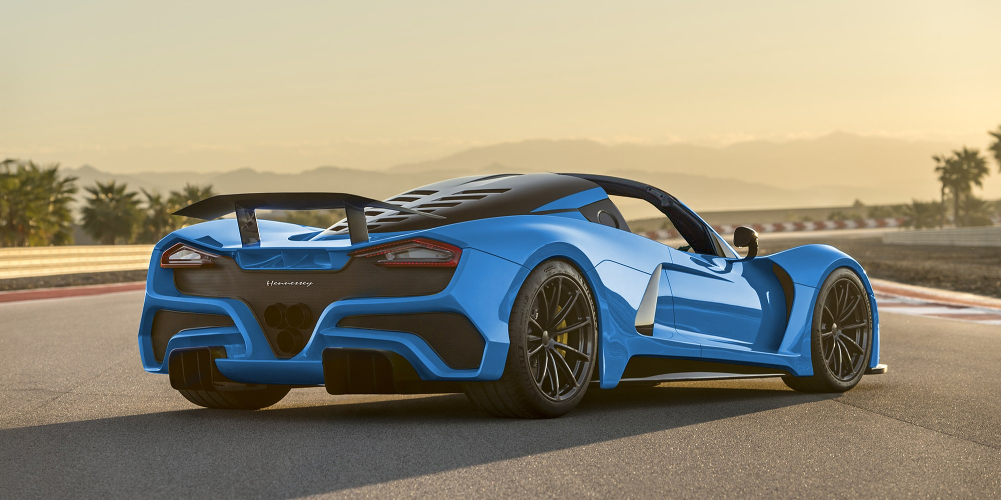 Hennessey Venom F5 Roadster Rear View