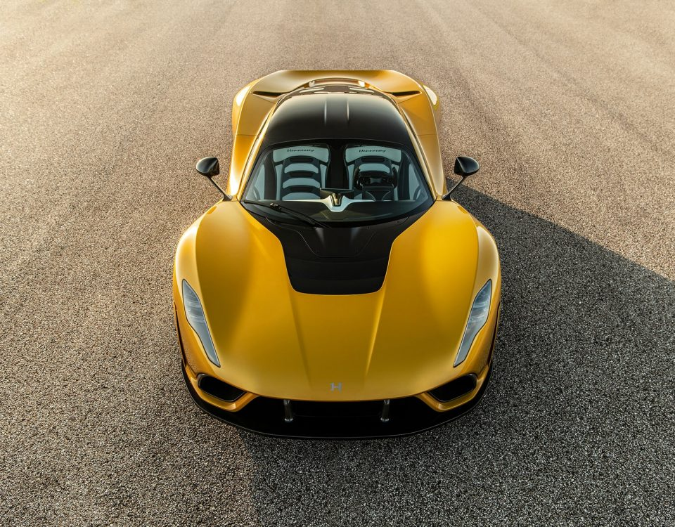 Hennessey Venom F5 Chassis No. 3 in Mojave Gold